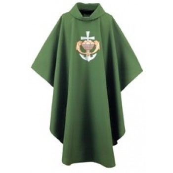 Chasuble with Fish, Loaves and Anchor Design