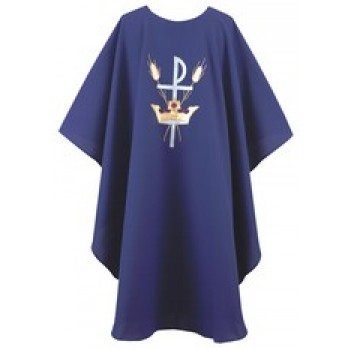 Chasuble with Crown, Wheat and Chi-Rho Design