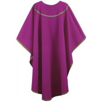 Purple Chasuble with Purple and Gold Galloon Trim