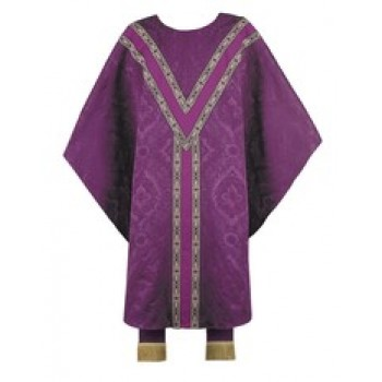 "Purple Brocade with ""Y"" Yoke and Longer Understole"
