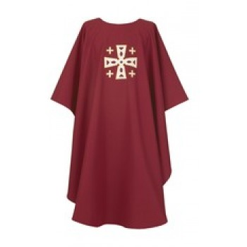 Crimson Cathedral Cross Chasuble