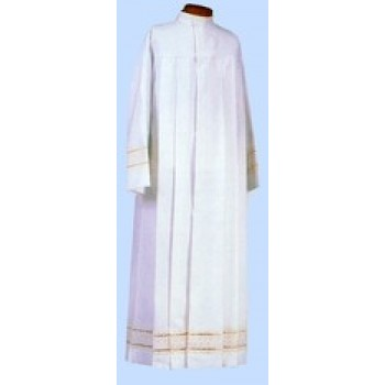 Polyester Medium Weight with White Embroidery Bands