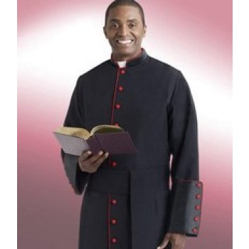 Cassock with Scarlet Red Piping