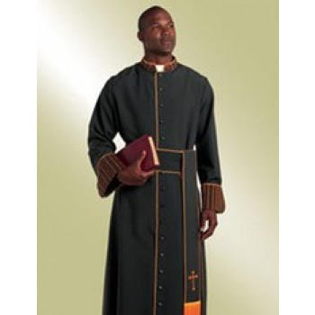 Cassock with Woven Kente Collar and Cuffs