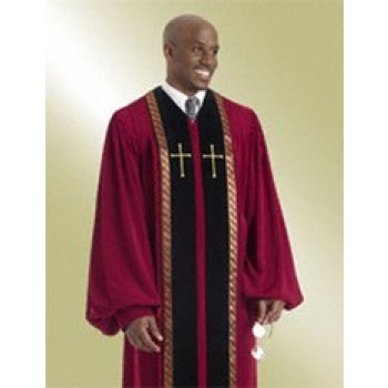 Garnet Wesley Pulpit Robe