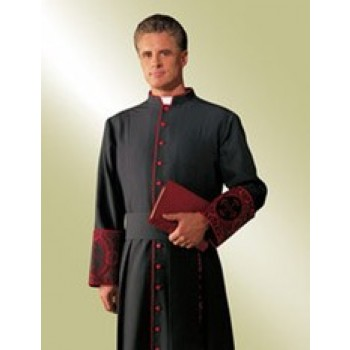 Evangelical Cassock with Scarlet Accents