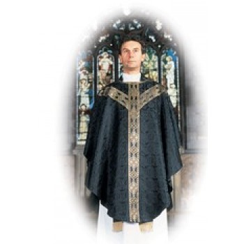 Black Semi Gothic Chasuble from Hayes and Finch