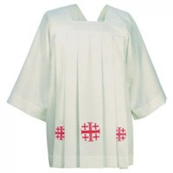 Hayes and Finch Traditional Cotta with Embroidered Cross