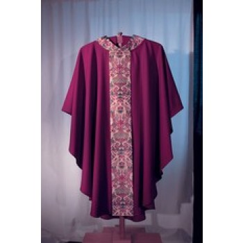 Full Cut Vestment with Brocade Panel