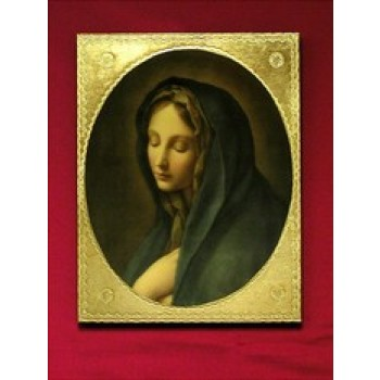 Our Lady of the Sorrows by Carlos Dolci Florentine Plaque