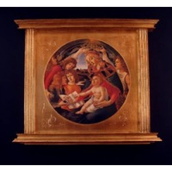 Magnificat Madonna and Child by Botticelli Florentine Plaque