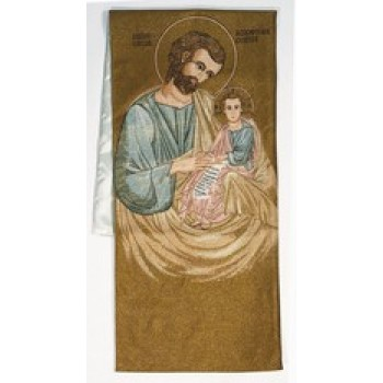 Saint Joseph and Child Woven Banner