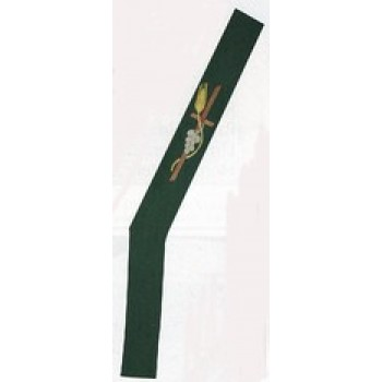 Multi Color Direct Embroidered Deacon Stole