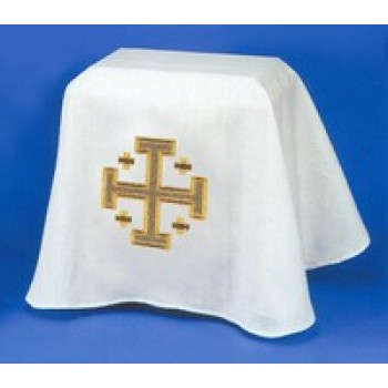 Ossuary Pall with Embroidered Gold Jerusalem Cross