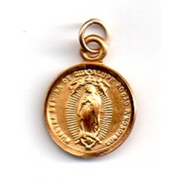 Our Lady of Gadalupe 14KT Gold Medal