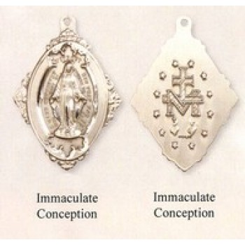 Miraculous Medal with High Relief