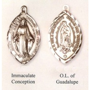 Traditional High Relief Blessed Mother Medals