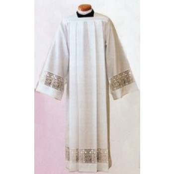 Poplin Alb with Latin Cross and IHS Lace