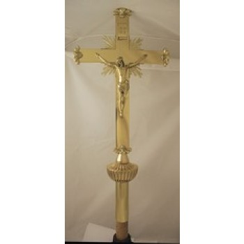 Polished Brass Processsional Crucifix