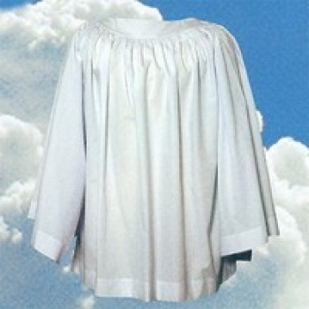 Tailored Priest Surplice with Round Yoke