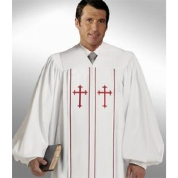 White Robe with Red Crosses