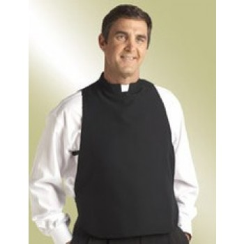 Black Clerical Shirtfront