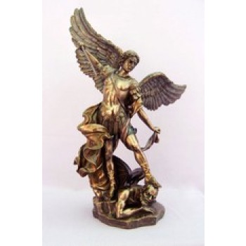 Michael Bronze Resin Statue