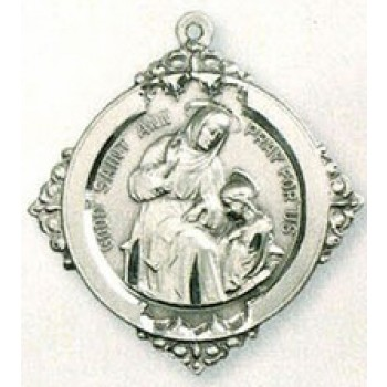 Saint Ann and the Blessed Mother Medal