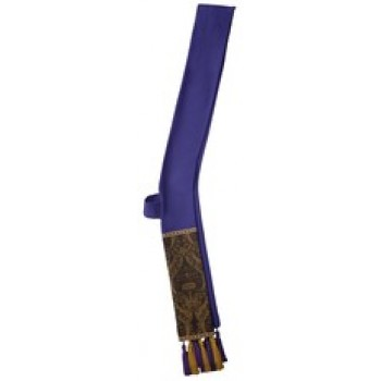 Indigo Deacon Stole with Purple and Gold Roncalli