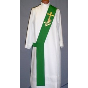 Gold Jubilee Cross with Gold Wheat Deacon Stole