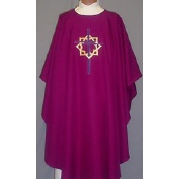 Gold Crown of Thorns with 3 Long Nails Chasuble