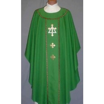 Gold Fleury Cross with Silver Triangle Chasuble