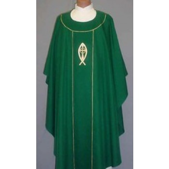 Chasuble with Fish, Inner Cross and Ring Symbols
