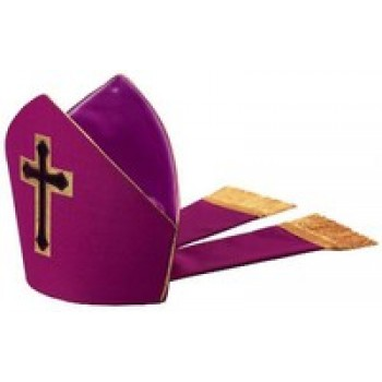 Purple Chapel Cross Mitre