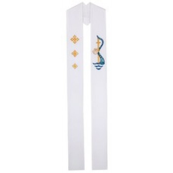 Baptism with Water Stream Applique Stole