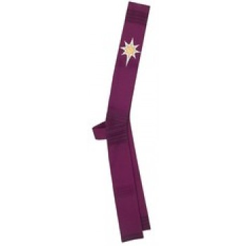 Advent Star on Purple Stripe Deacon Stole