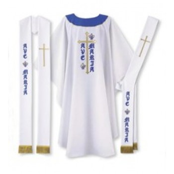 "White ""AVE MARIA"" Chasuble"
