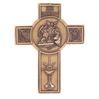 Antique Bronze First Communion Cross