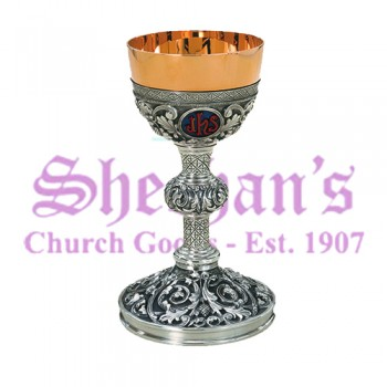 Repousse Chalice and Paten with Ring