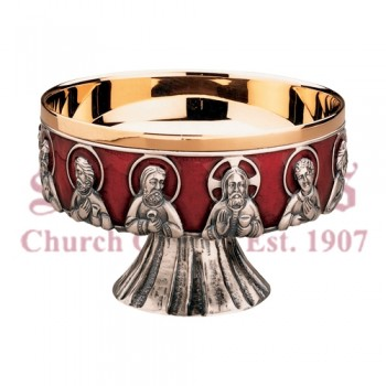 Last Supper with Red Enamel Open Ciboria