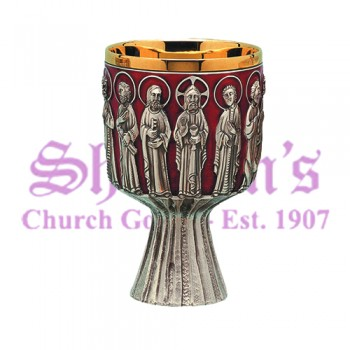 Last Supper with red enamel Chalice
