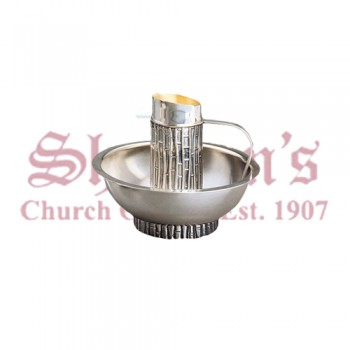 Classic Brass Silverplated Jug and Basin