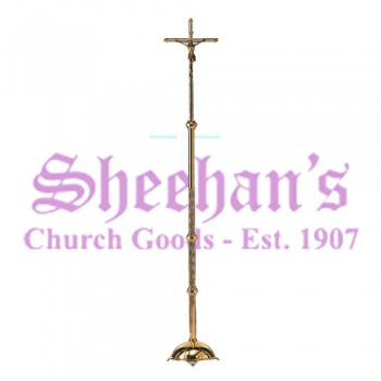 Brass Processional Church Sanctuary Crucifix
