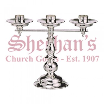 Classic clear lacquer Three Light Candlesticks