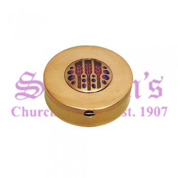 """Grapes and Wheat"" Motif Communion Pyx"
