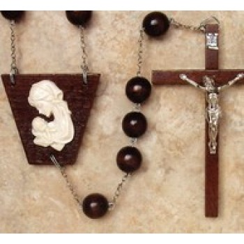 Round Wood Wall Rosary