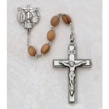 Sterling Olivewood Rosary