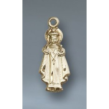 Infant of Prague 14KT Gold Small Figure Pendant