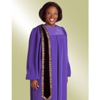 Evangelist Purple Ladies Clergy Robe