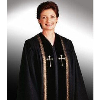 Ladies Black Wesley Robe